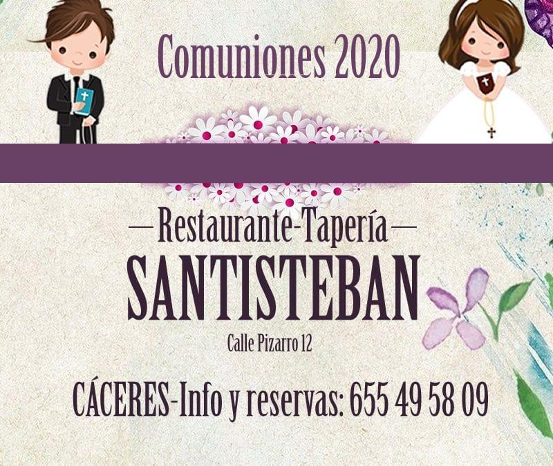 COMUNIONES EN RESTAURANTE SANTISTEBAN, CÁCERES